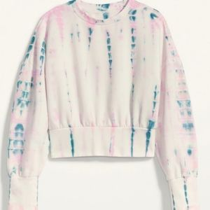 NWOT Old Navy Tie Dye Cropped Pullover